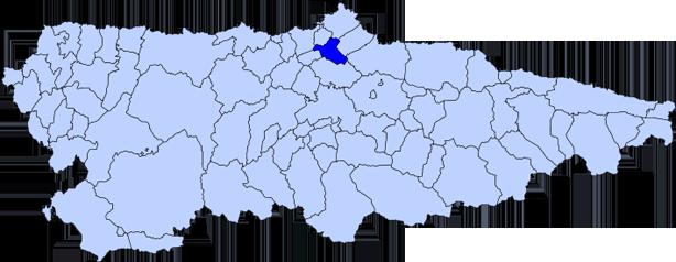 Copa de España de Sprint Olímpico. Embalse de Trasona. Mapa de Asturias